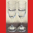 Don Roth Blackhawk LAST SPIN Champagne Flute Pair